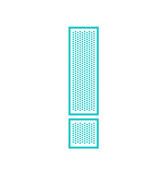 flat perforate font vector image