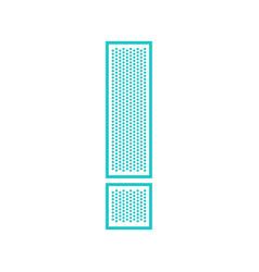 Flat perforate font vector
