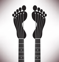 Footprint Headstocks vector image