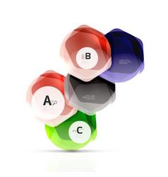 Geometrical hexagon aqua elements vector