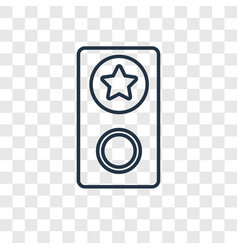 Group concept linear icon isolated on transparent vector