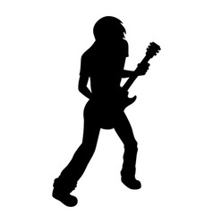 guitarist vector image