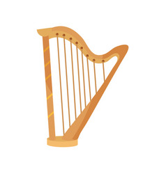 Harp string musical instrument isolated icon vector