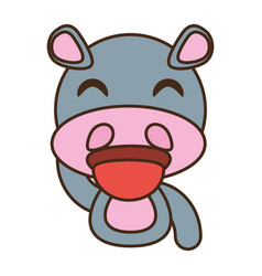 Hippo baby animal funny image vector
