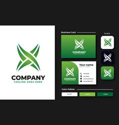 initial x monogram logo design template vector image