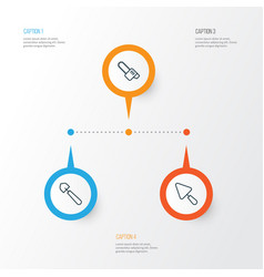 Instrument icons set collection of scoop vector