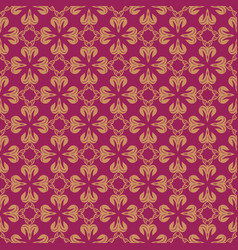 Korean traditional red flower pattern background vector