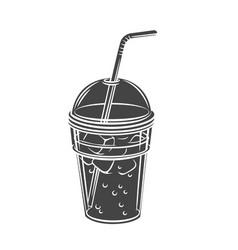 Lemonade glyph icon vector