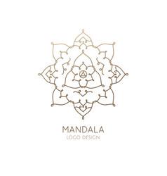Logo mandala vector