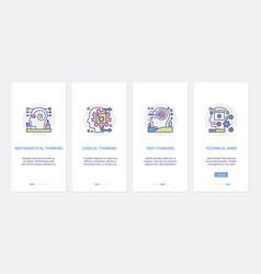 Mind processes line logical thinking ux ui vector