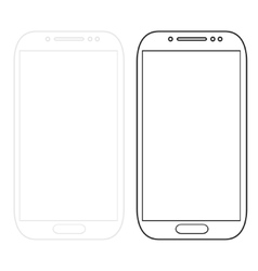 modern smartphones isolated on white vector image