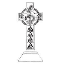 monumental cross vintage vector image