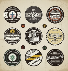 Retro Labels Collection vector image