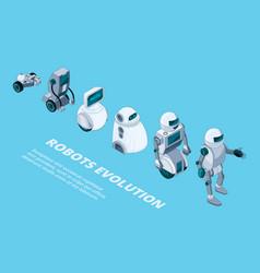 Robots evolution androids digital metal vector