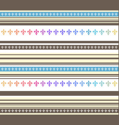 seamless horizontal striped pastel colored vector image