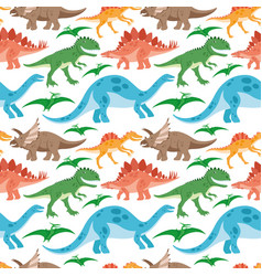 Seamless pattern with dinosaurs vector