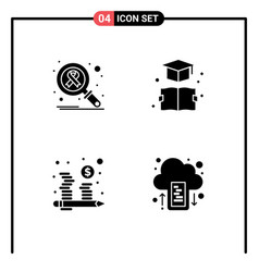 Set 4 modern ui icons symbols signs for infect vector