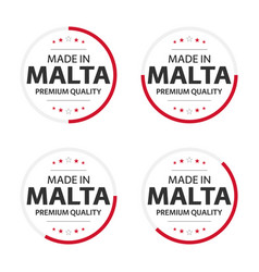 set four maltese icons made in malta vector image