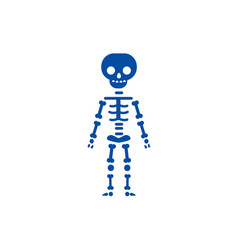 skeletone line icon concept skeletone flat vector image
