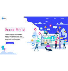 Social media horizontal banner with copy space vector
