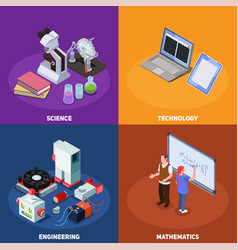 stem education design concept vector image