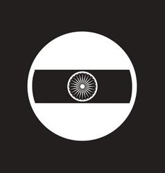 stylish black and white icon flag of india vector image
