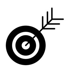 target icon successful shoot goal sign concept vector image