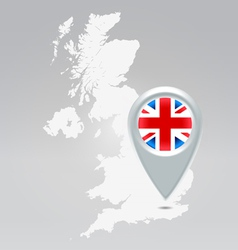 UK point map vector image