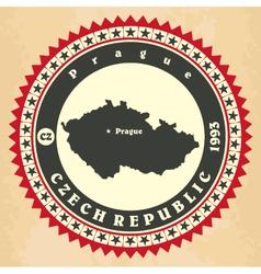 vintage label-sticker cards czech republic vector image