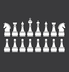 White chess set vector