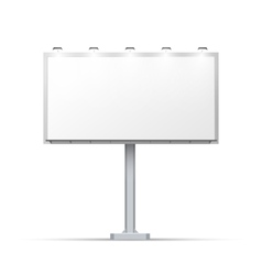 White outdoor billboard with place for advertising vector