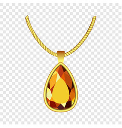 yellow topaz jewelry icon realistic style vector image