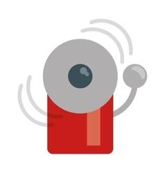 alarm fire emergency alert icon vector image