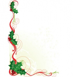 Christmas holly border vector image