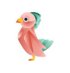 colorful tropical bird stylized geometric animal vector image vector image