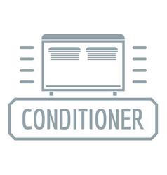 conditioner logo simple gray style vector image