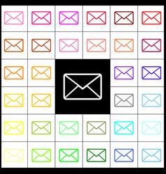Letter sign felt-pen 33 vector
