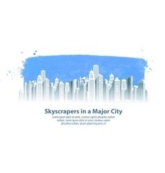 modern city logo design template vector image vector image
