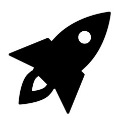 rocket icon business startup symbol pictogram vector image vector image
