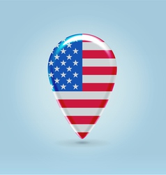 USA icon point for map vector image vector image