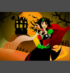 witchcraft vector image