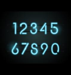 neon font number vector image