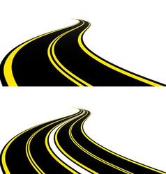 roads vector image
