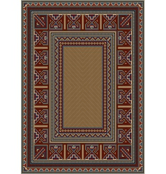 Vintage carpet with ethnic pattern vector image vector image
