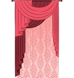 Vintage curtains vector