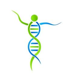 DNA person Logo vector image