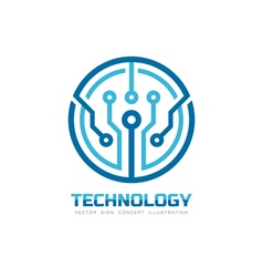 Technology chip - logo vector image vector image