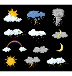 weather collection for you design vector image
