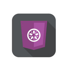 web development shield abstract round violet sign vector image