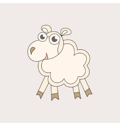 Cartoon sheep character for Christmas and 2015 New vector image vector image